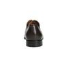 Braune Lederhalbschuhe im Derby-Look bata, Braun, 824-4406 - 17