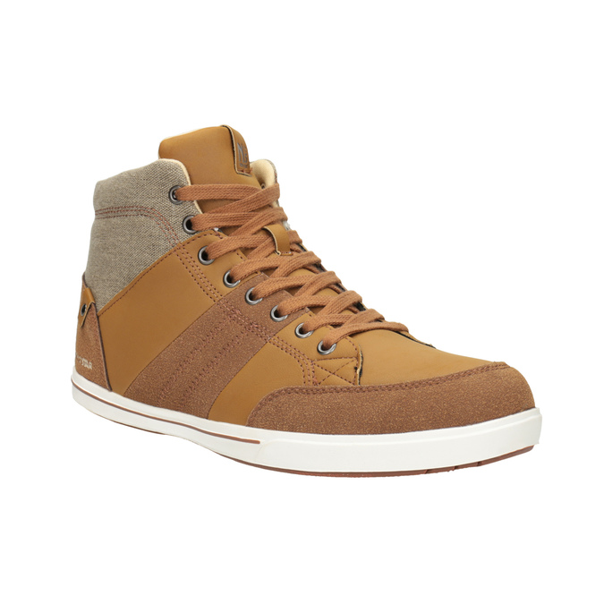 Knöchelhohe Herren-Sneakers north-star, Braun, 841-3608 - 13