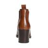 Damen-Knöchelschuhe aus Leder mit Absatz bata, Braun, 694-4641 - 17