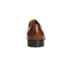 Braune Lederhalbschuhe im Derby-Look bata, Braun, 826-3682 - 17