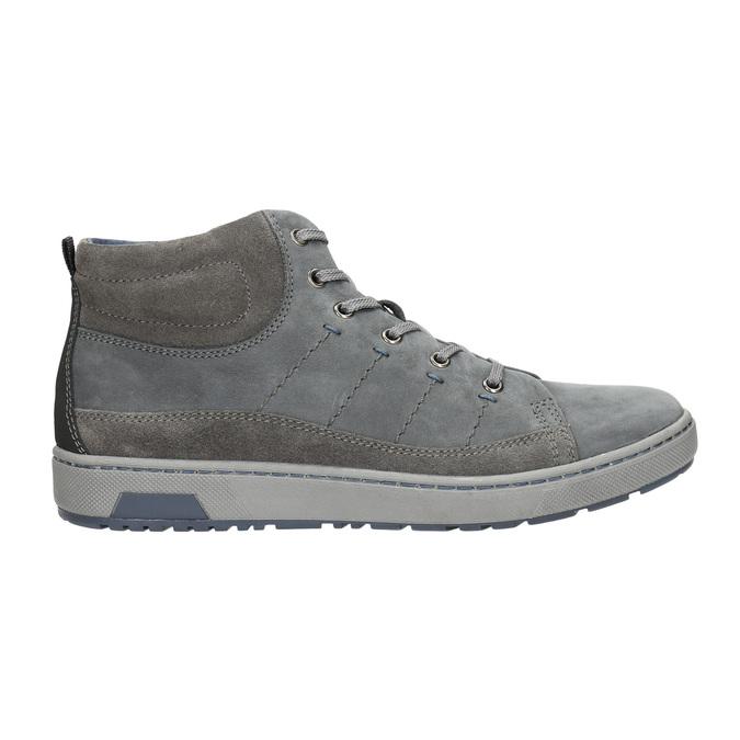 Knöchelhohe Herren-Sneakers bata, Grau, 846-2651 - 15