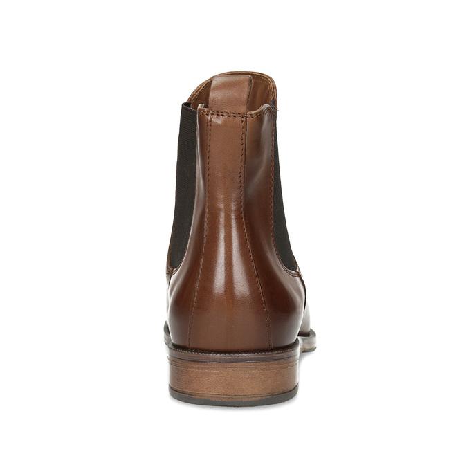 Braune Chelsea Boots aus Leder bata, Braun, 594-4636 - 15