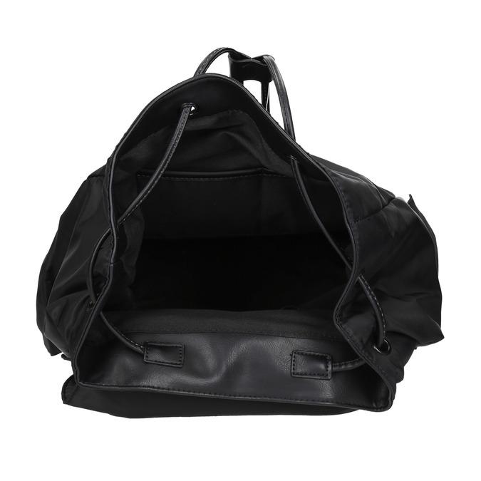Schwarzer Rucksack mit Taschen bata, Schwarz, 969-6163 - 15