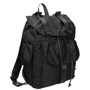 Schwarzer Rucksack mit Taschen bata, Schwarz, 969-6163 - 13