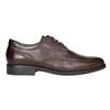 Braune Lederhalbschuhe im Derby-Look fluchos, Braun, 824-4442 - 26
