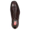 Braune Lederhalbschuhe im Derby-Look fluchos, Braun, 824-4442 - 15