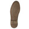 Braune Lederhalbschuhe mit Steppung bata, Braun, 826-4915 - 19