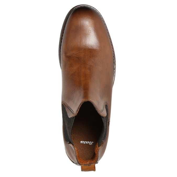 Braune Chelsea Boots aus Leder bata, Braun, 896-3673 - 26
