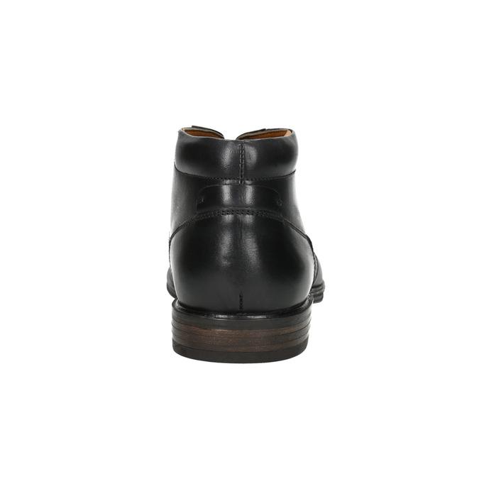Herren-Knöchelschuhe aus Leder bata, Schwarz, 824-6913 - 17