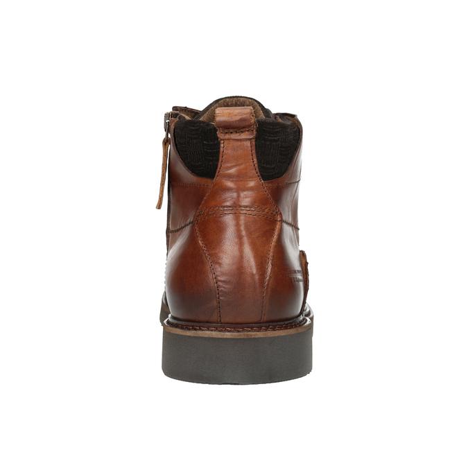 Knöchelschuhe aus Leder bata, Braun, 896-3675 - 16