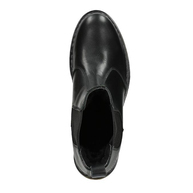 Damen-Chelsea-Boots aus Leder bata, Schwarz, 594-6680 - 15