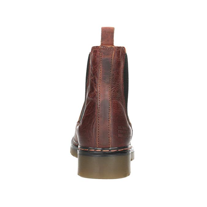 Damen-Chelsea-Boots aus Leder bata, Braun, 596-3680 - 16