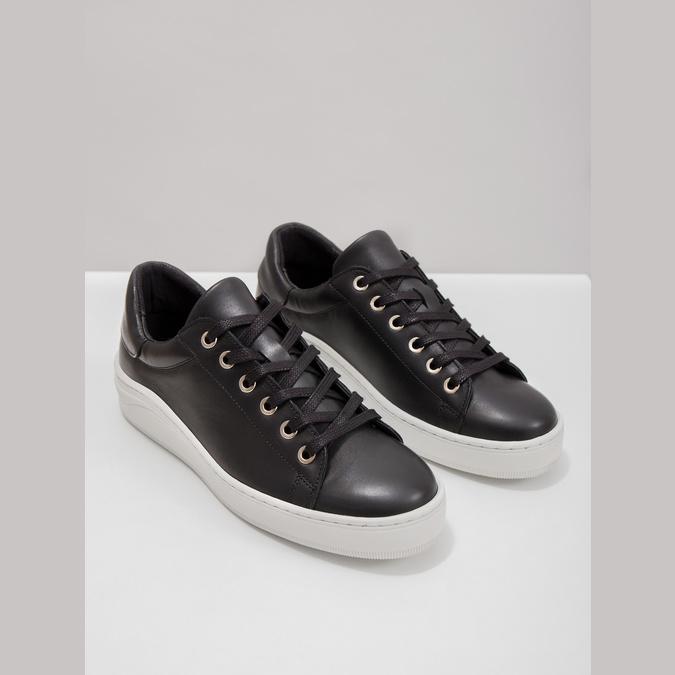 Leder-Sneakers mit markanter Sohle bata, Schwarz, 526-6641 - 14