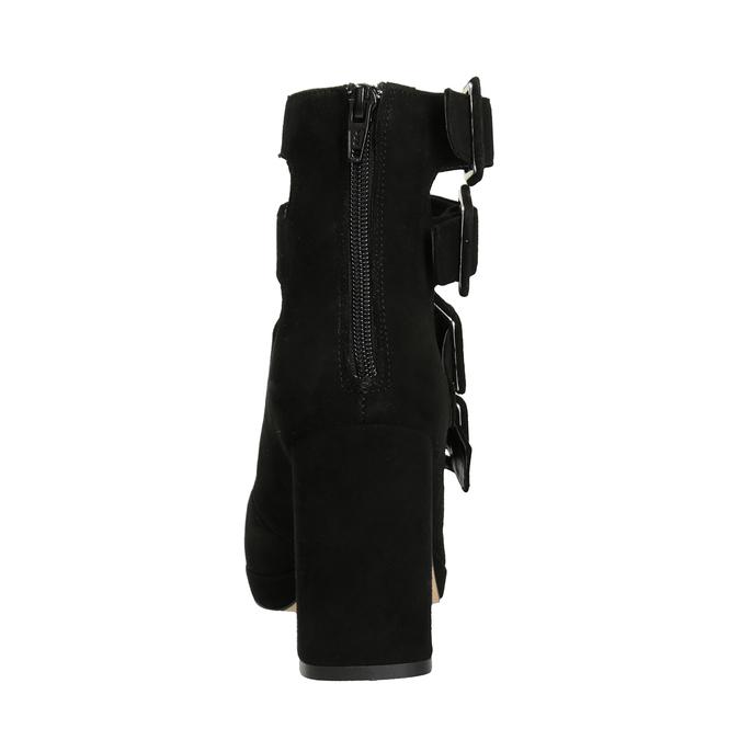 Schwarze Pumps mit Schnallen bata, Schwarz, 723-6984 - 16