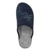 Blaue Damen-Hausschuhe bata, Blau, 579-9621 - 17