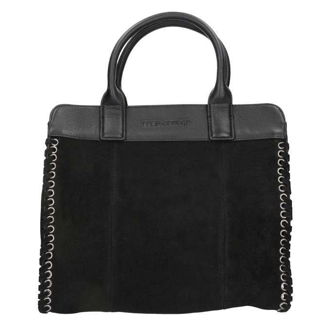 Damenhandtasche aus Leder fredsbruder, Schwarz, 963-6002 - 26
