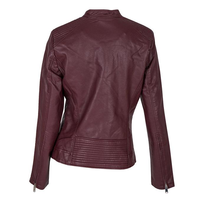 Weinrote Jacke aus Kunstleder bata, Rot, 971-5203 - 26