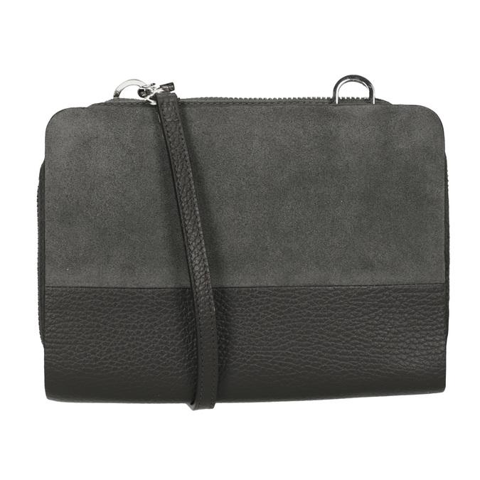 Crossbody-Damenhandtasche aus Leder royal-republiq, Grau, 963-2050 - 16
