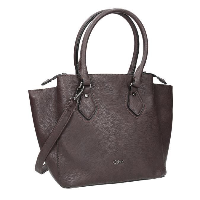 Braune Damenhandtasche mit Gurt gabor-bags, Braun, 961-6039 - 13