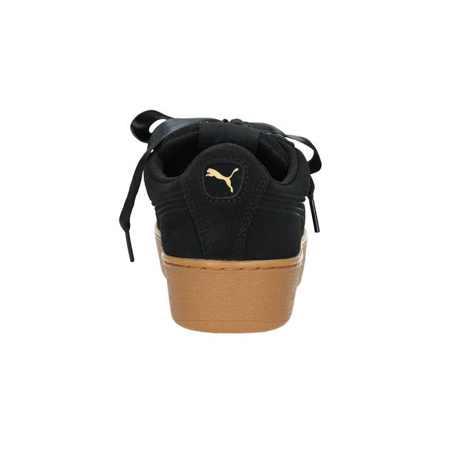 Damen-Sneakers aus Leder puma, Schwarz, 503-6169 - 16