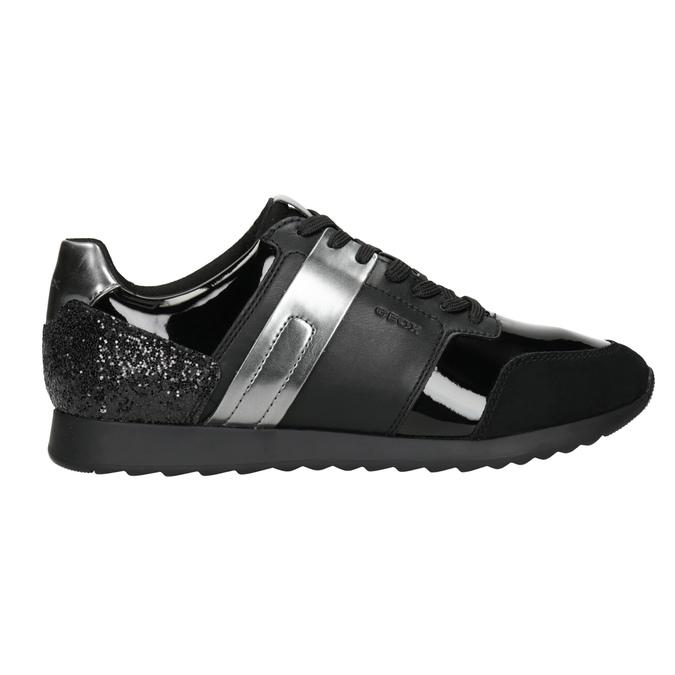 Schwarze Damen-Sneakers geox, Schwarz, 621-6045 - 26
