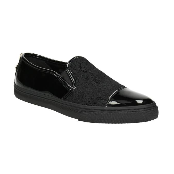 Damen-Slip-Ons mit Spitze geox, Schwarz, 511-6095 - 13