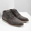 Graue Knöchelschuhe aus Leder bata, Grau, 826-2912 - 18