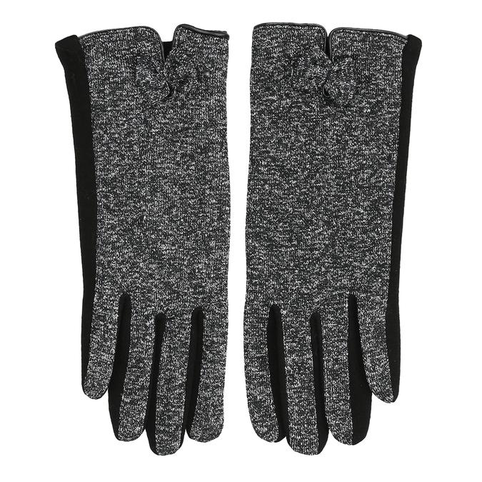 Damenhandschuhe mit Schleifchen, Schwarz, 909-6615 - 26