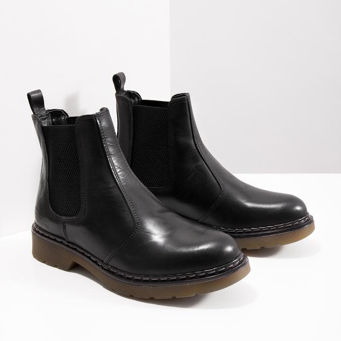Damen-Chelsea-Boots aus Leder bata, Schwarz, 594-6680 - 18