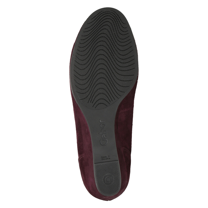 Leder-Ballerinas der Weite G gabor, Rot, 623-5018 - 17