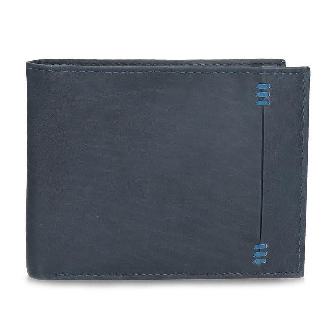 Herren-Geldbörse aus Leder bata, Blau, 944-9188 - 26