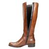 Braune Lederstiefel bata, Braun, 596-4665 - 26