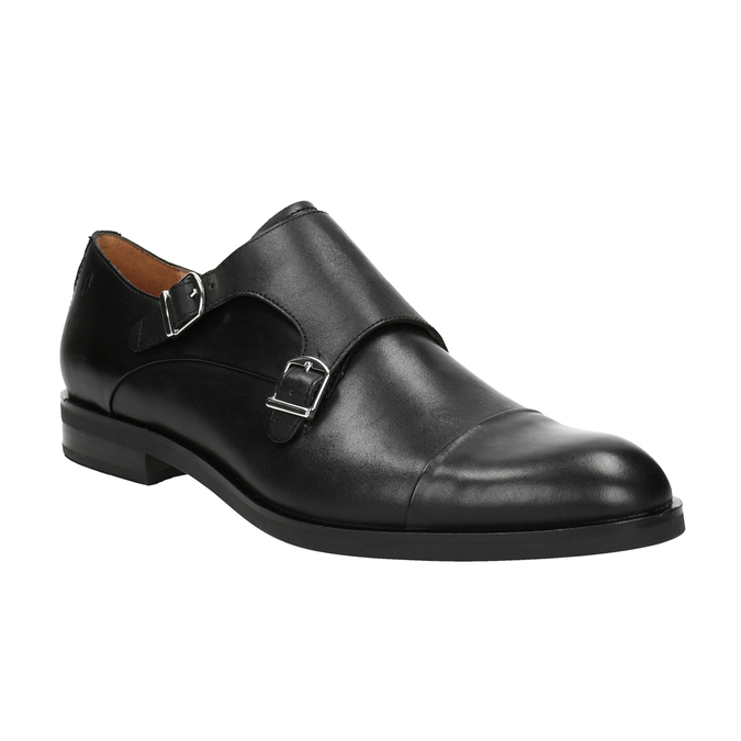 Herren-Monk-Shoes aus Leder vagabond, Schwarz, 814-6023 - 13
