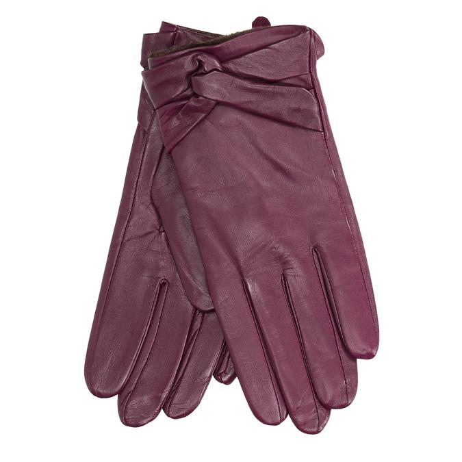 Damenhandschuhe aus Leder bata, Violett, 904-0109 - 13