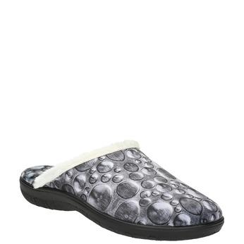 Graue Damen-Hausschuhe bata, Grau, 579-2622 - 13