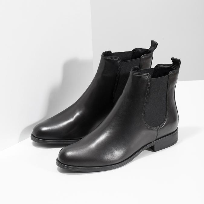 Damen-Chelsea-Boots aus Leder bata, Schwarz, 594-6661 - 26