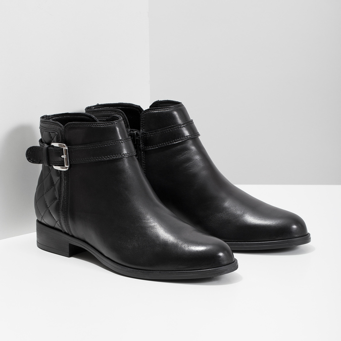 Knöchelschuhe aus Leder mit einer Schnalle bata, Schwarz, 594-6662 - 26