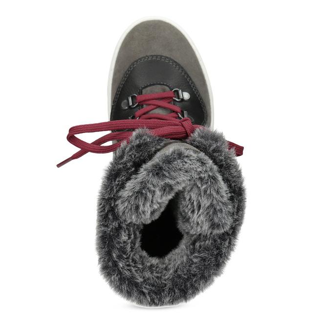 Damen-Schneestiefel aus Leder weinbrenner, Grau, 593-4601 - 17