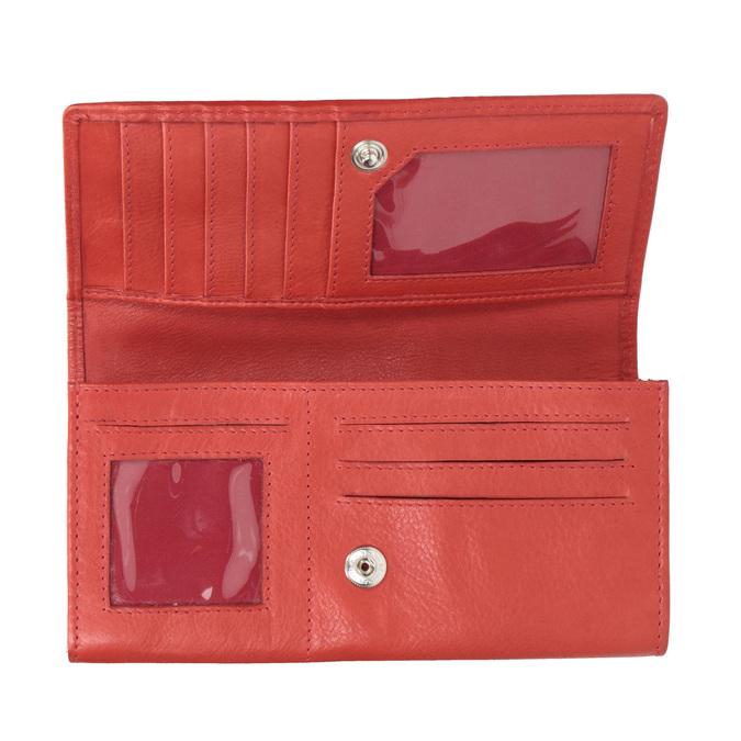Rote Damen-Geldbörse aus Leder bata, Braun, 944-3203 - 15