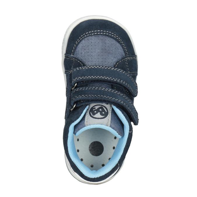 Kinder-Knöchelschuhe aus Leder bubblegummer, Blau, 113-9603 - 15