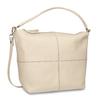 Cremefarbene Hobo-Handtasche aus Leder, Beige, 964-8290 - 13
