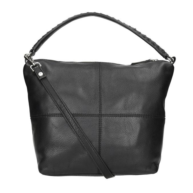 Hobo-Handtasche aus Leder mit Steppung bata, Schwarz, 964-6290 - 16