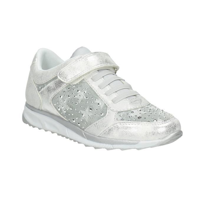 Silberne Kinder-Sneakers mit Steinchen mini-b, 329-1348 - 13