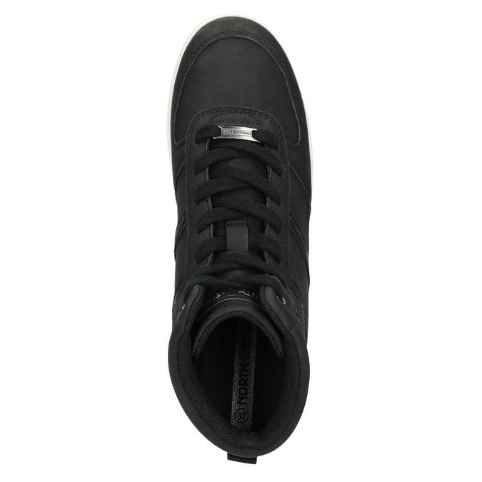 Knöchelhohe Damen-Sneakers north-star, Schwarz, 641-6600 - 17