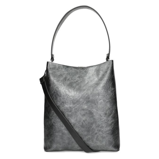 Schwarze Hobo-Damenhandtasche, Schwarz, 961-2173 - 16
