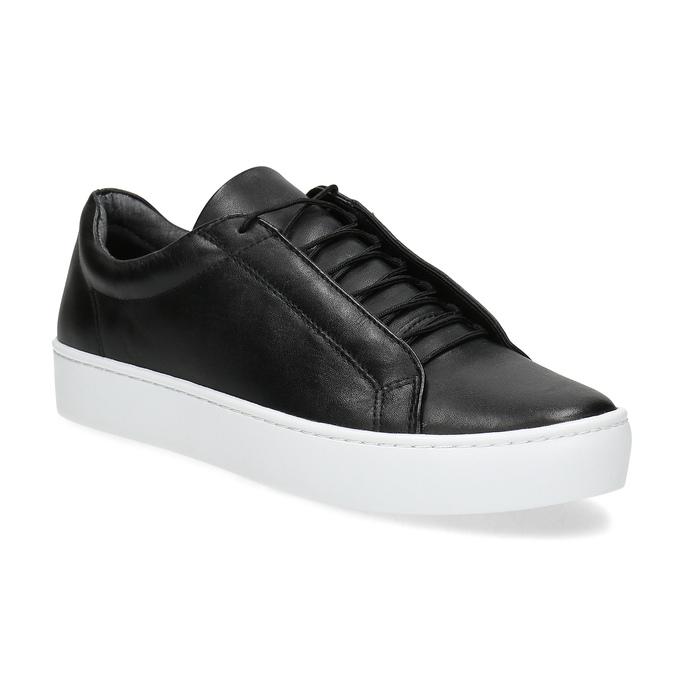 Schwarze Leder-Sneakers vagabond, Schwarz, 624-6014 - 13